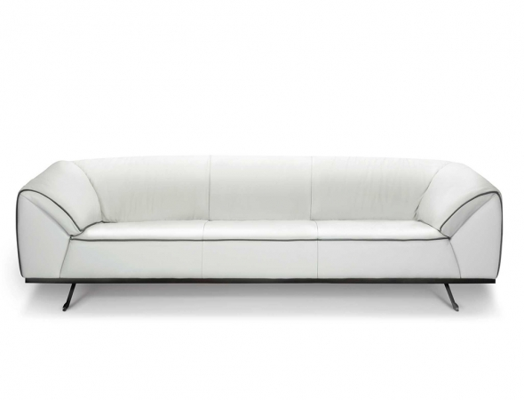 ספת 4 מושבים מעור בגוון אבן + קדר אפור