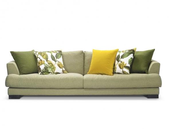 ספה תלת מקסי בריפוד בד, הכוללת 5 כריות גב: 60*60 ס
