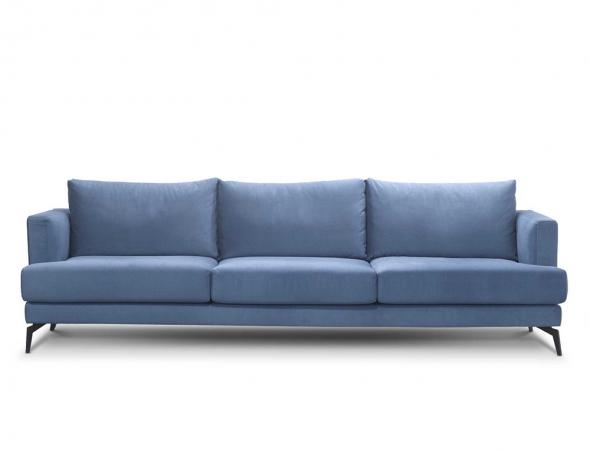 ספה תלת מקסי בריפוד בד.