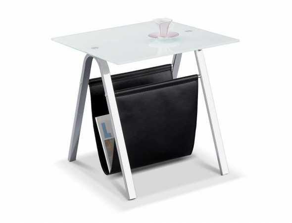 שולחן צד בעל זכוכית מחוסמת 5 מ