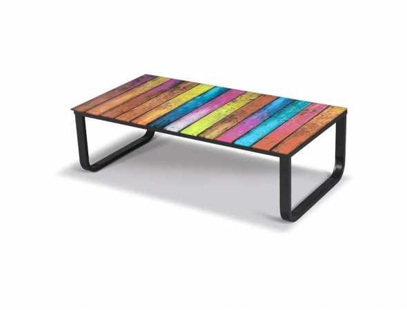 שולחן סלון עם משטח מודפס