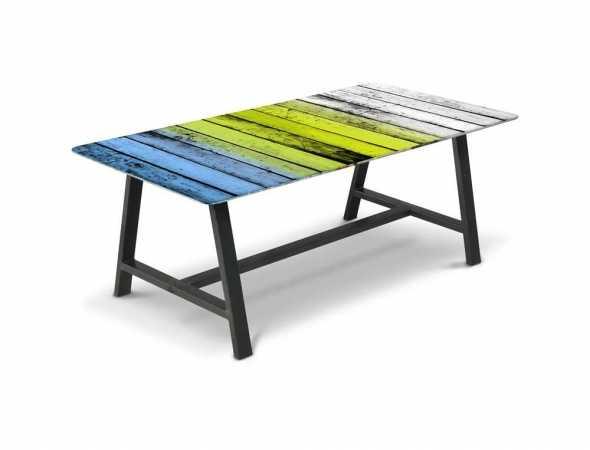 שולחן בעל משטח עליון מודפס