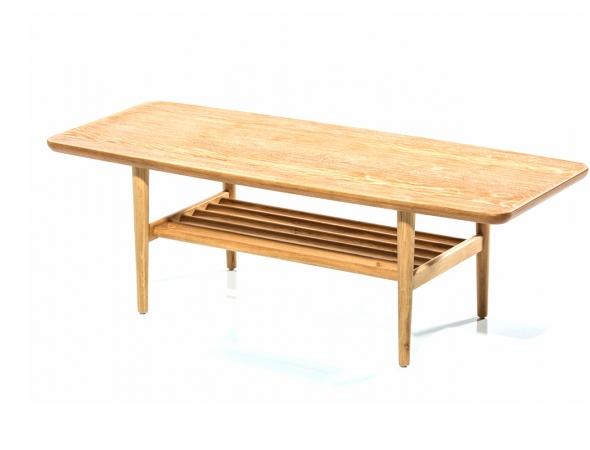 שולחן סלון ייחודי מעץ אלון טבעי.