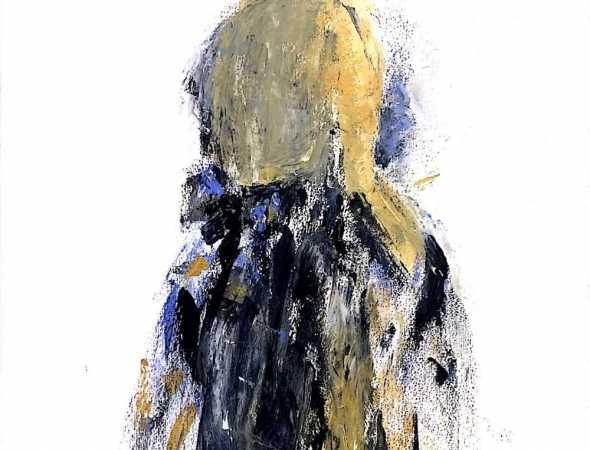 ציור שמן על בד בסגנון פיגורטיבי של גיטה לוי