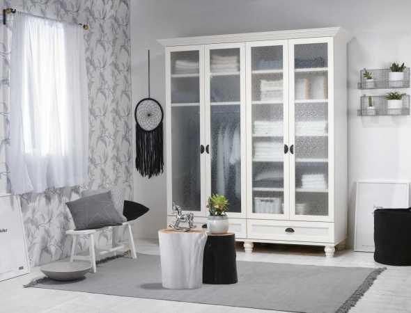 ארון דלתות לבן