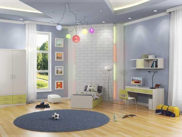 חדר ילדים ריהוט ירוק בהיר