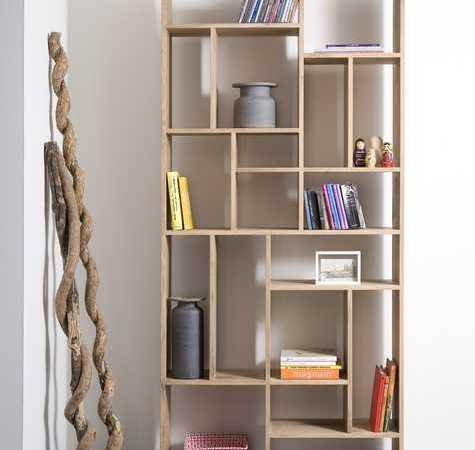 ספריה מבית המותג ETHNICRAFT עשויה מעץ מלא
