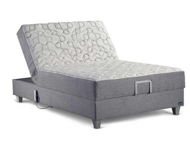 מיטת נוער מתכווננת חשמלית עם מערכת קפיצים מבודדים עם 7 אזורי תמיכה בעלת שכבת ויסקו אלסטית עם תכונת זכרון