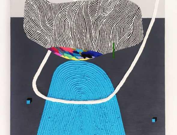ציור אקריליק על בד בסגנון מופשט של קייט פריצלס
