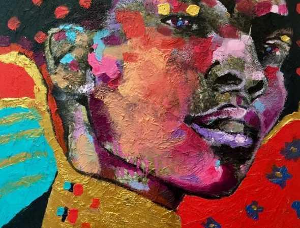 ציור שמן על בד של רומן גולמן