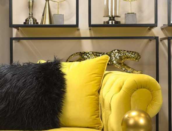 ספה בריפוד צהוב