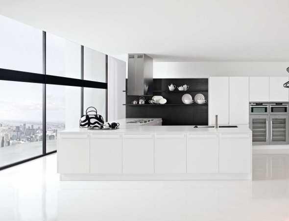 מטבח שחור לבן