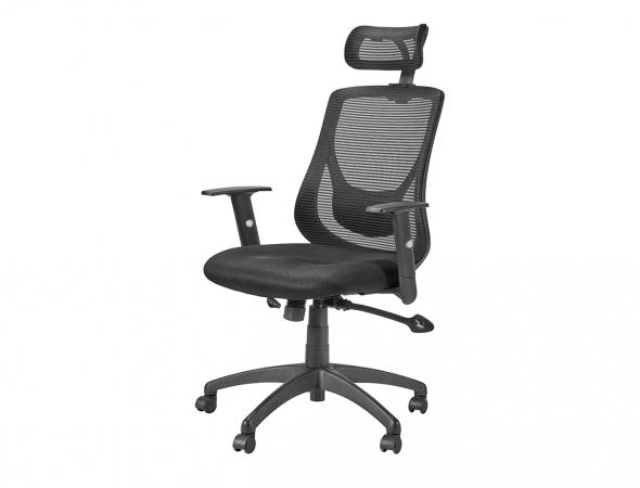 כיסא מנהלים משרדי אורטופדי עם תמיכה ייחודית לגב התחתון לישיבה בריאה וממושכת.