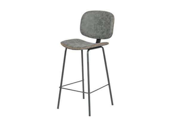 כסא בריפוד דמוי עור