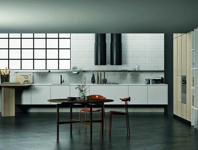 מטבח בצבעים שחור ולבן