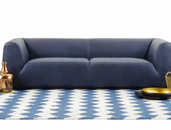 ספה בריפוד כחול נייבי