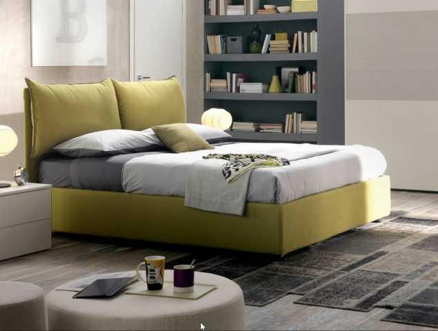 מיטה זוגית בגוון ירוק