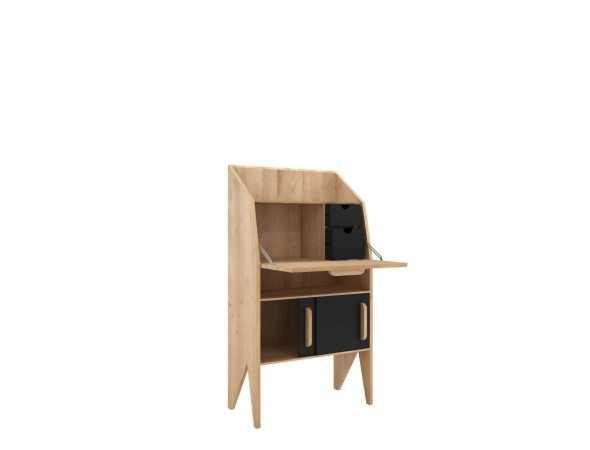 מכתבה בסגנון רטרו עשויה מעץ מלא  ו-MDF צבוע