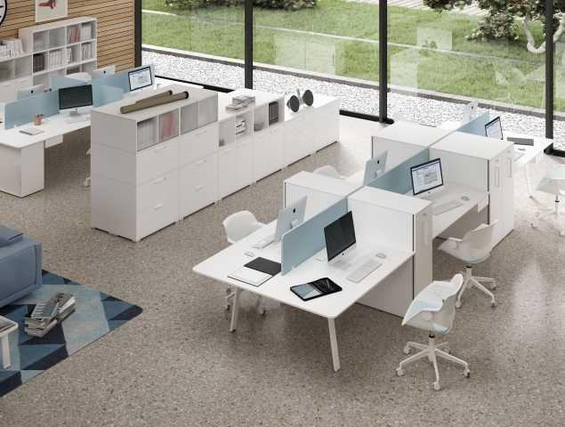 ריהוט משרדי לבן