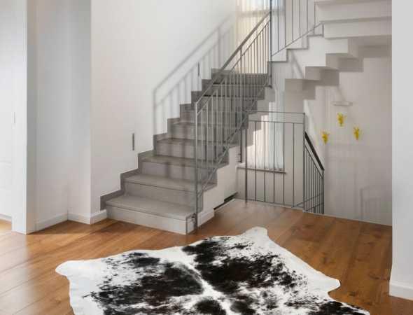 שטיח עור מיוחד ומודרני בעיצוב לא שגרתי
