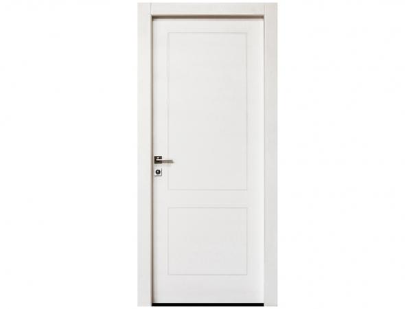 דלת מדגם יוניק פרימיום טופ טאץ' לבן עם חריטת 2 פאנל