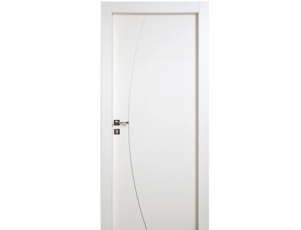 דגם יוניק פרימיום טופ טאץ לבן עם חריטת קשת