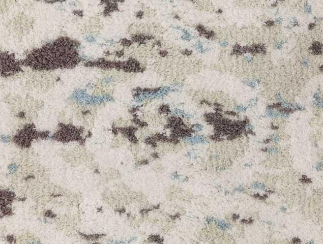 שטיח בגוונים ירוק בהיר ובז' העשוי ממיקרו פייבר, נעים למגע וקל לתחזוקה