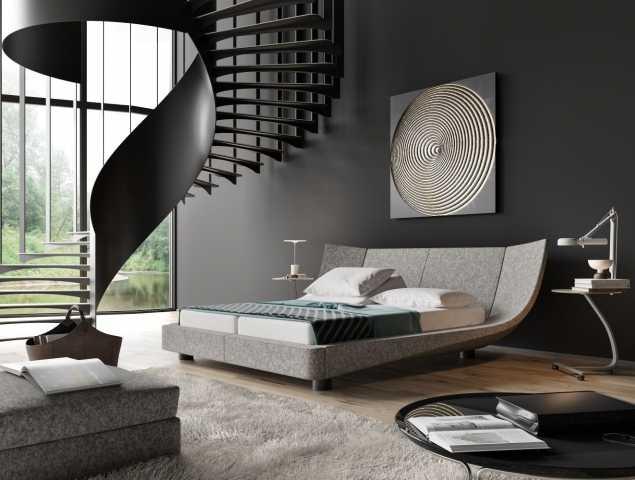 """מיטת בד שעוצבה ע""""י  Thomas Althaus, קיימת גם בדמוי עור"""
