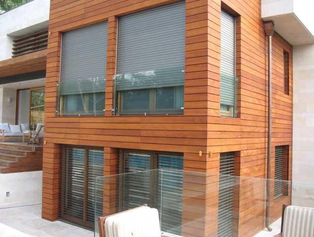חיפוי קיר חיצוני עץ
