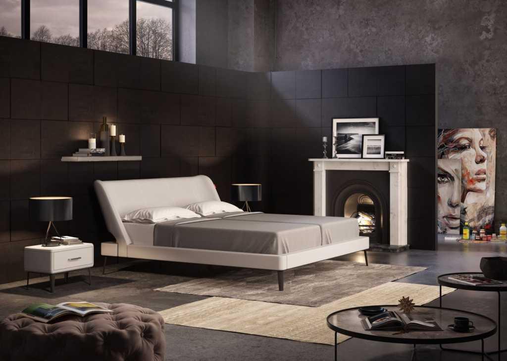 מיטה מעור משולב