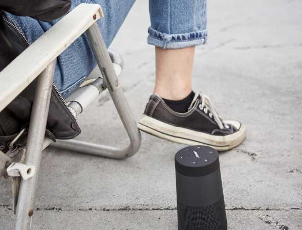 רמקול נייד עם סוללה פנימית וחיבור USB, עמיד במים