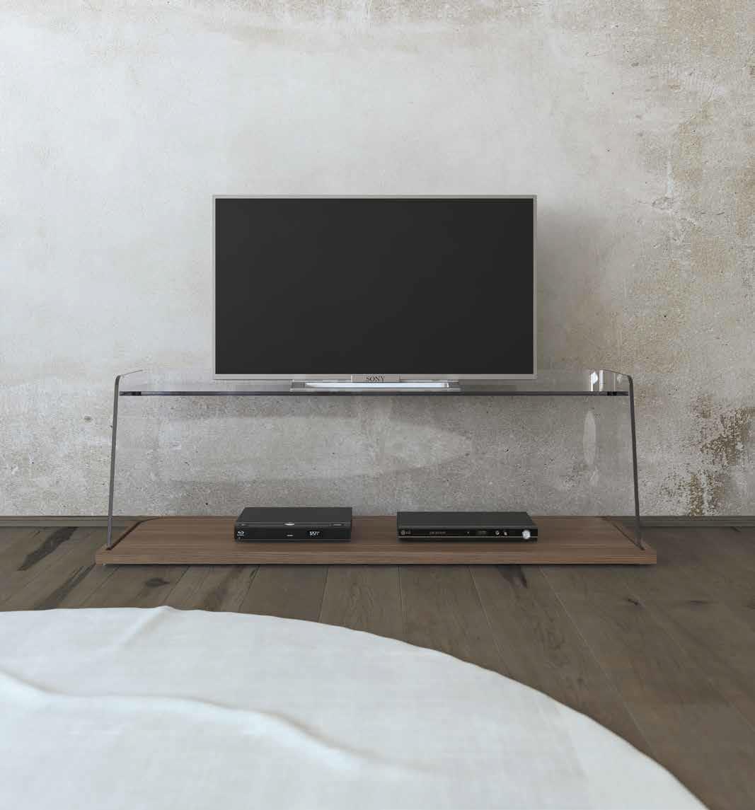 שידת טלוויזיה המשלבת מדף עץ תחתון- פרנקו פרי, הקומה העליונה