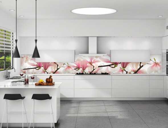 חיפוי קיר פרחוני למטבח