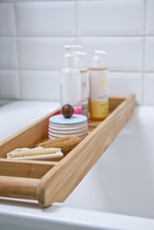 מגש אמבטיה מעץ במבוק