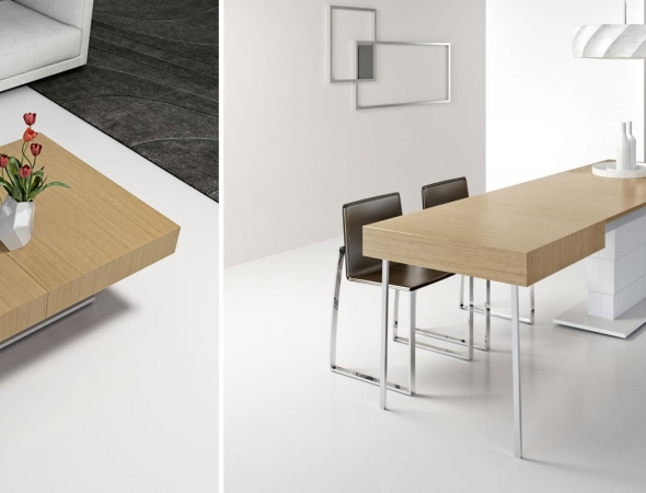 שולחן סלון שהופך לשולחן אוכל בגודל 320 ס