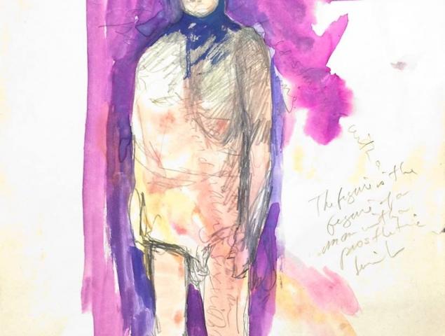 רישום על נייר של פמלה לוי