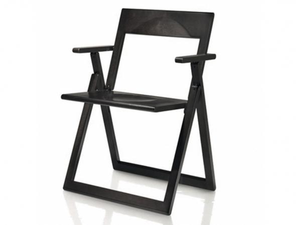 כסא מתקפל בצבע שחור