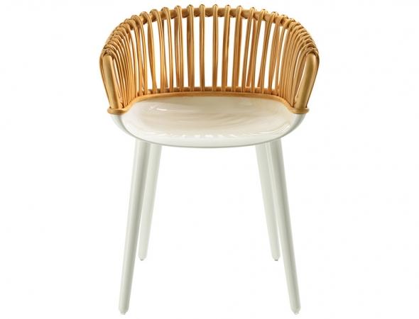 כסא בעל משענת ראטן קלוע
