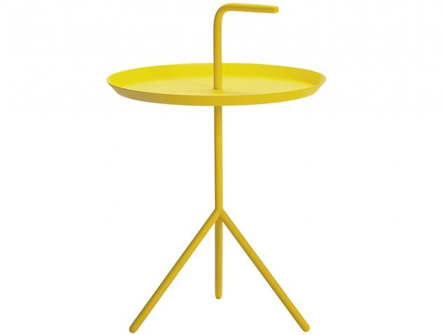 שולחן צד צהוב