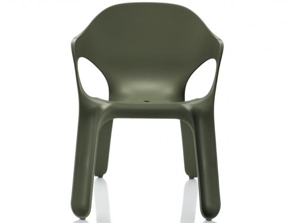 כסא פלסטיק בצבע ירוק כהה