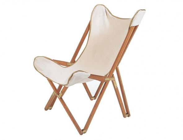 כסא מתקפל מעץ בצבע לבן