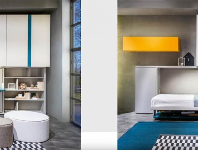 יחידה מכילה בתוכה מיטת יחיד, שולחן עבודה, ארון ומדפים לאחסון. תוספת קיר אחד
