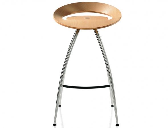 כסא בר מעץ עם רגלי מתכת