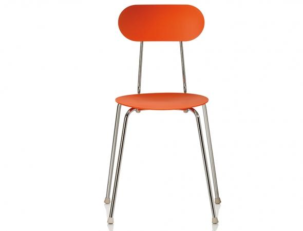 כסא כתום עם רגלי מתכת\