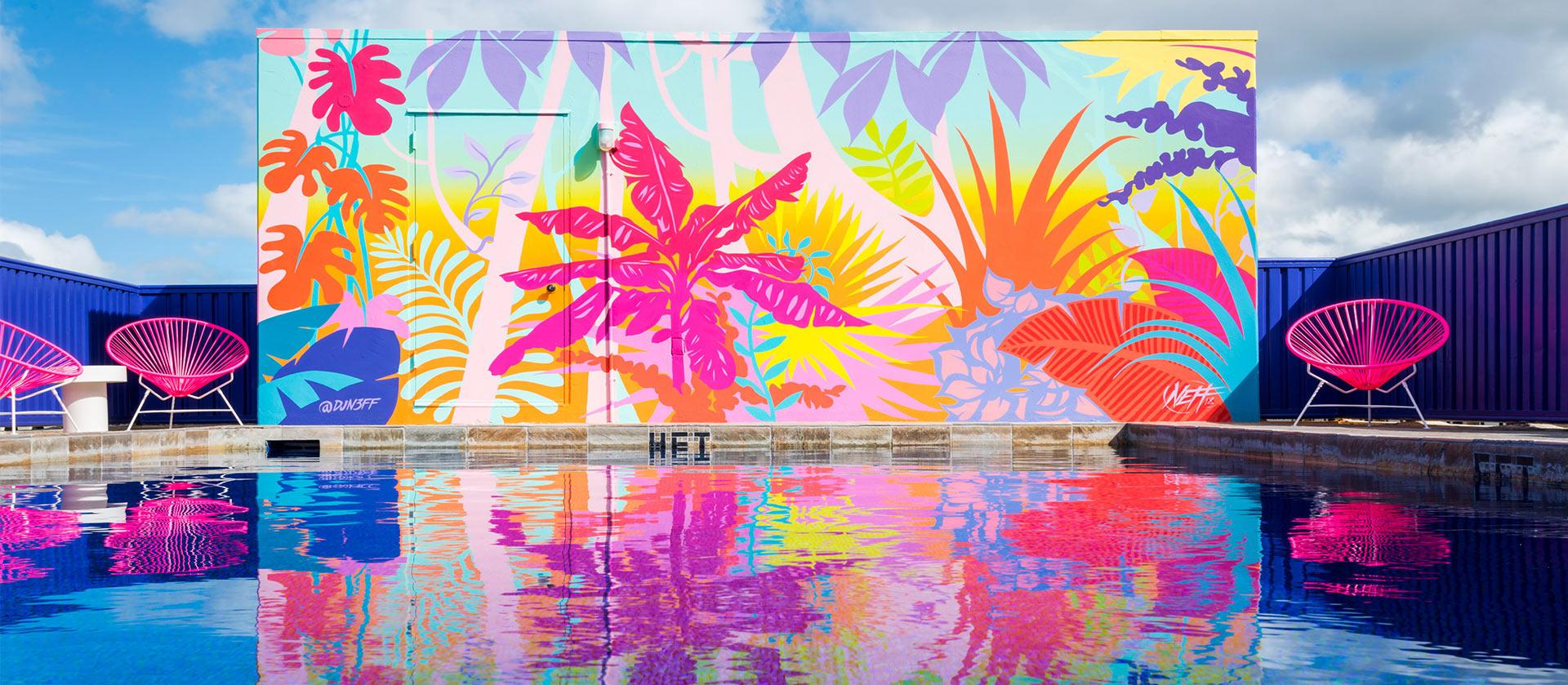 כתבת עיצוב מלון בהוואי