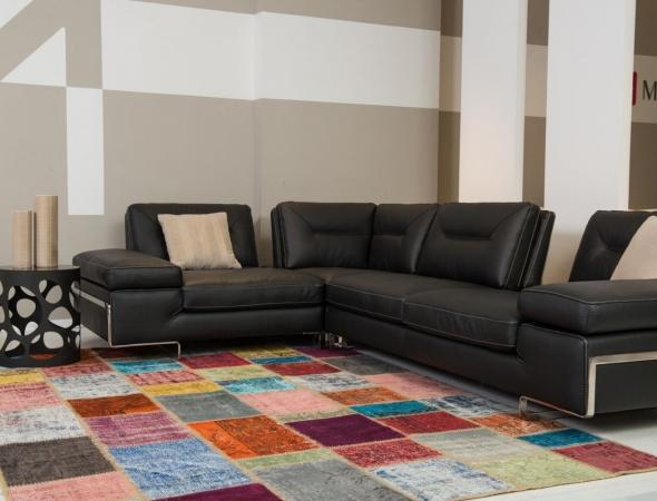 שטיח טלאים צבעוניים