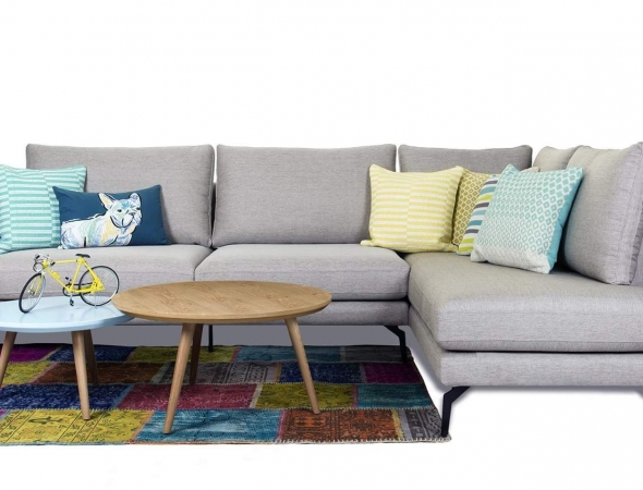 שטיח טלאים צבעוני