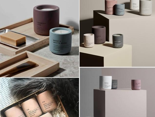 SCENTED CANDLES: סדרת נרות ריחניים בכלי בטון צבעוני MALY'S | הקומה התחתונה