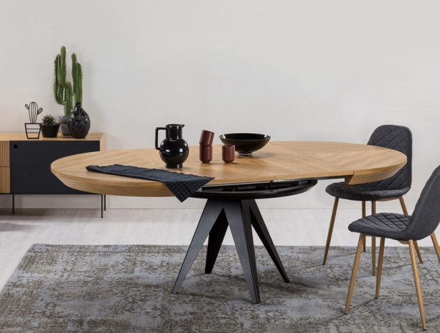 berlin-שולחן אוכל נפתח עגול