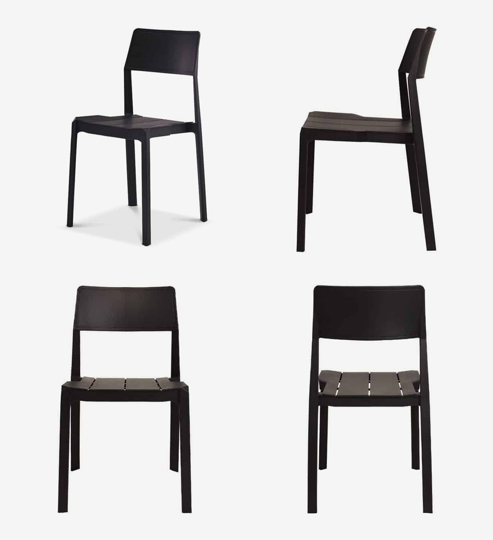 GLONG כיסא נערם מפלסטיק, קיים בשחור או בלבן ומתאים גם למרפסת ולגן. להשיג: URBAN | קומת הכניסה